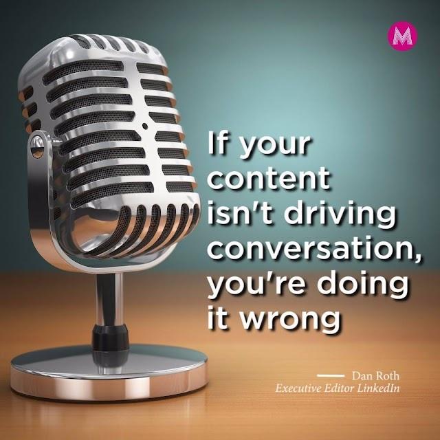 #content marketing should start conversations