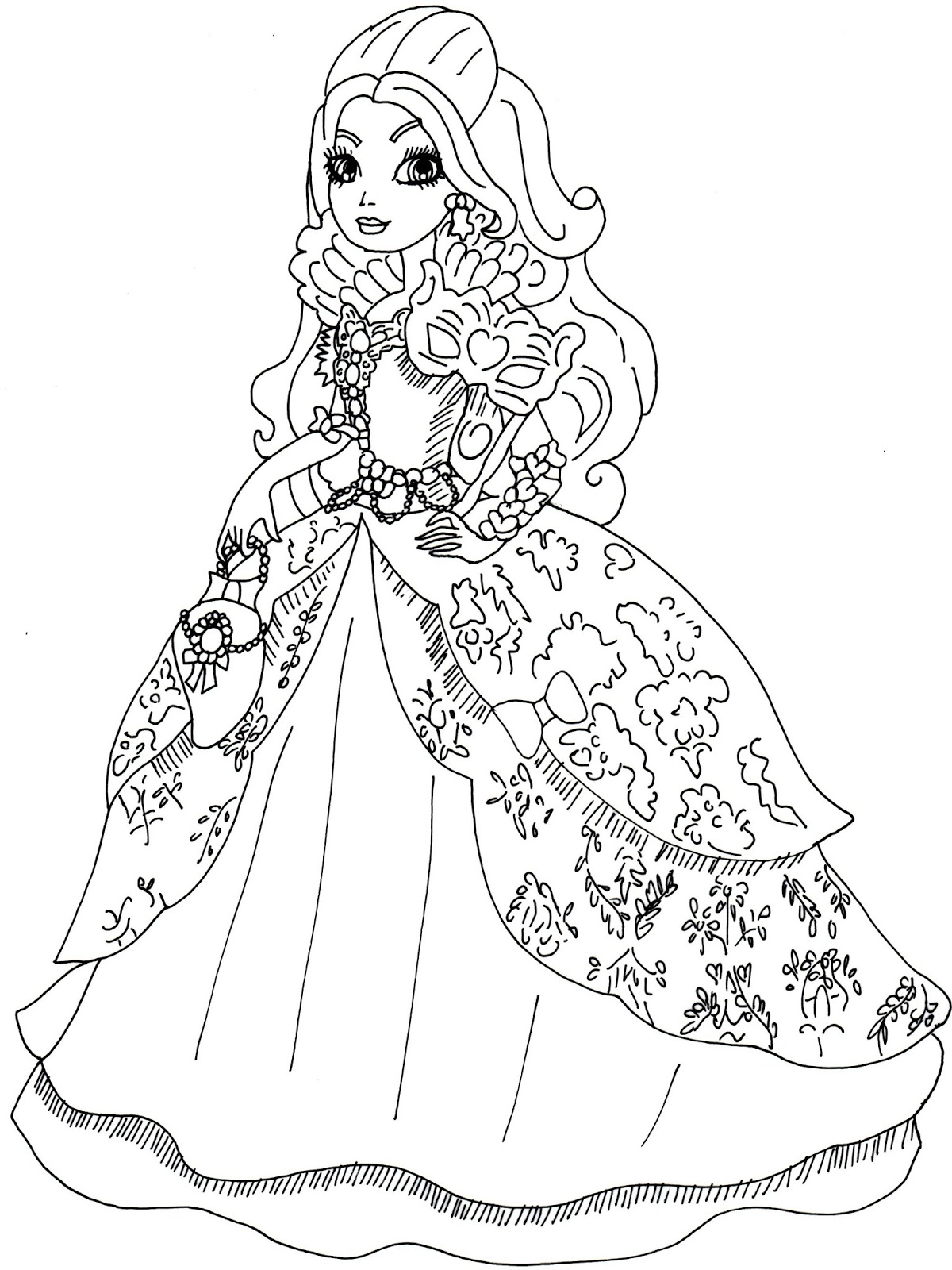 Coloring Pages Apple White : Free printable ever after high coloring pages apple white