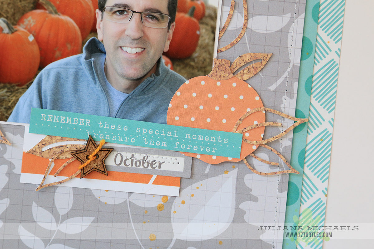 Grateful Scrapbook Page by Juliana Michaels for Elle's Studio October Kit Reveal