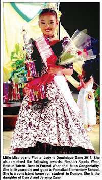 Little Miss Barrio Fiesta 2013 Jadyne Dominique Zane