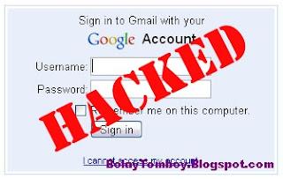 Cara Mengatasi Password Gmail Kena Hack