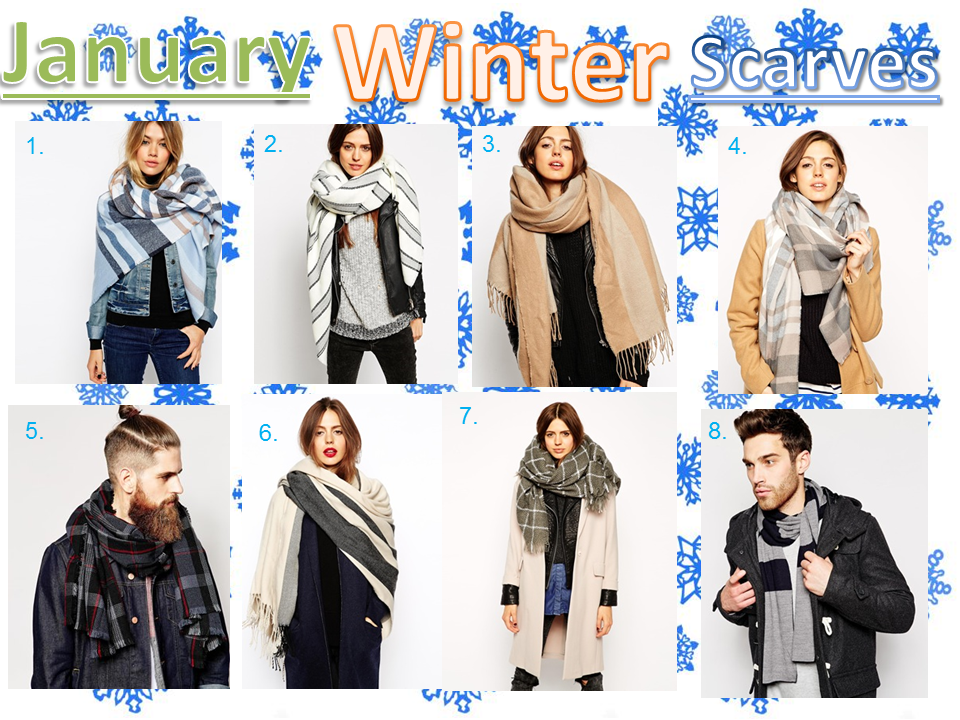 janaury winter scarves