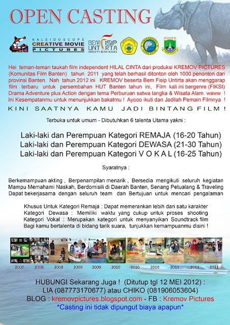 Dicari 6 Bintang Film Banten 2012 !