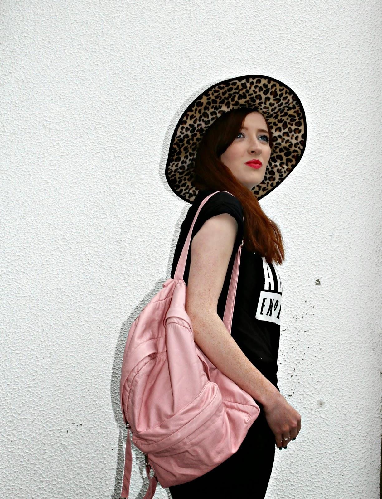 leopard hat fashion rebecca