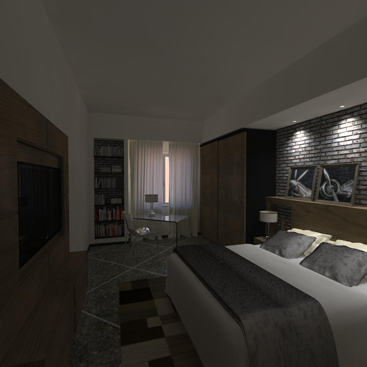 camera da letto matrimoniale - atp studio - Controsoffitti Camera Da Letto