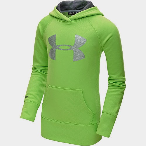 Sports authority coupon 25%:Under Armour Girls' Armour Fleece Storm Printed Big Logo Hoodie
