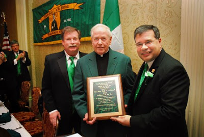 The Friendly Sons Honor Msgr. Hugh A. O'Donnell (center) as the 2012 Irishman of the Year.