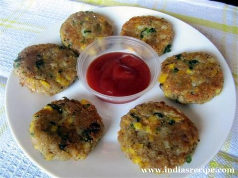 Corn Patties / Tikki recipe