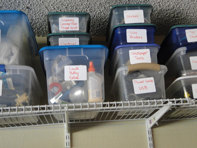 Clear Tubs Help Store Usables In Garage