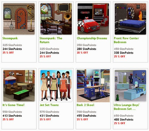http://store.thesims3.com/sale.html?categoryId=13700