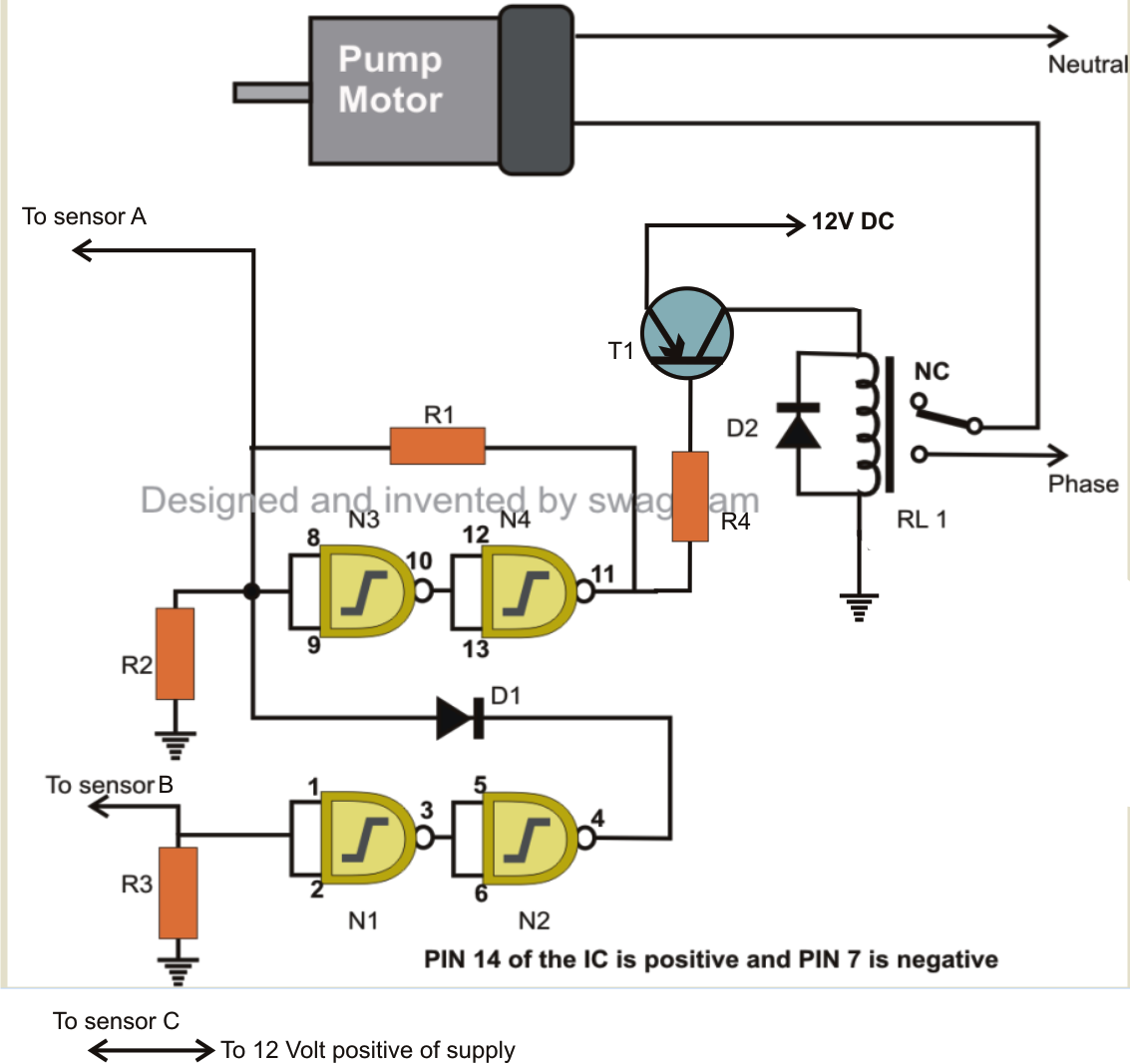 making a customized water level controller circuit  electronic, circuit diagram