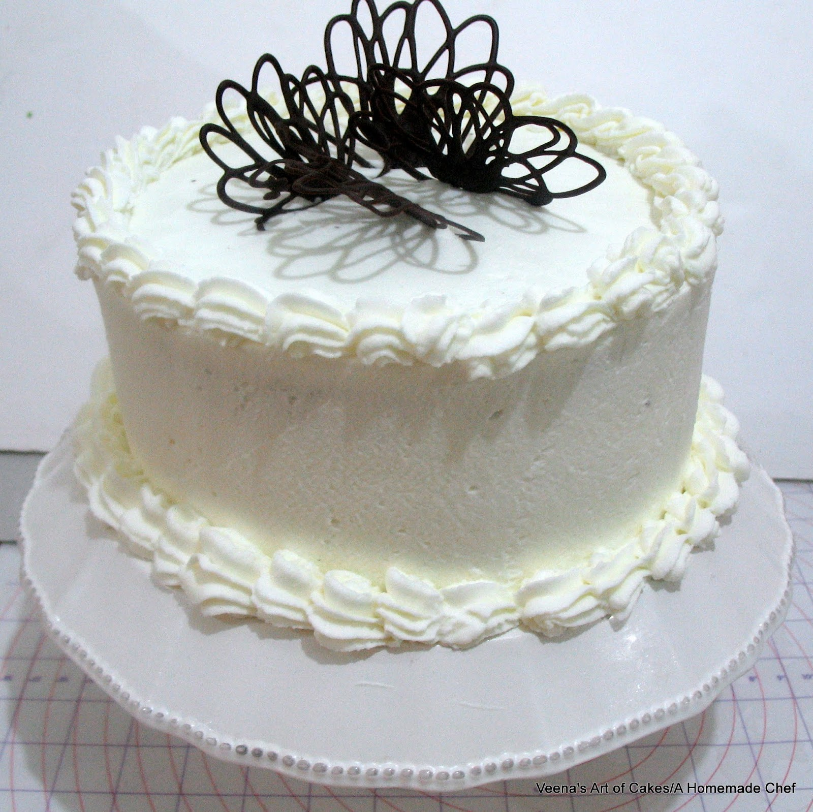 Chocolate Cake with Whipped Cream - Veena Azmanov