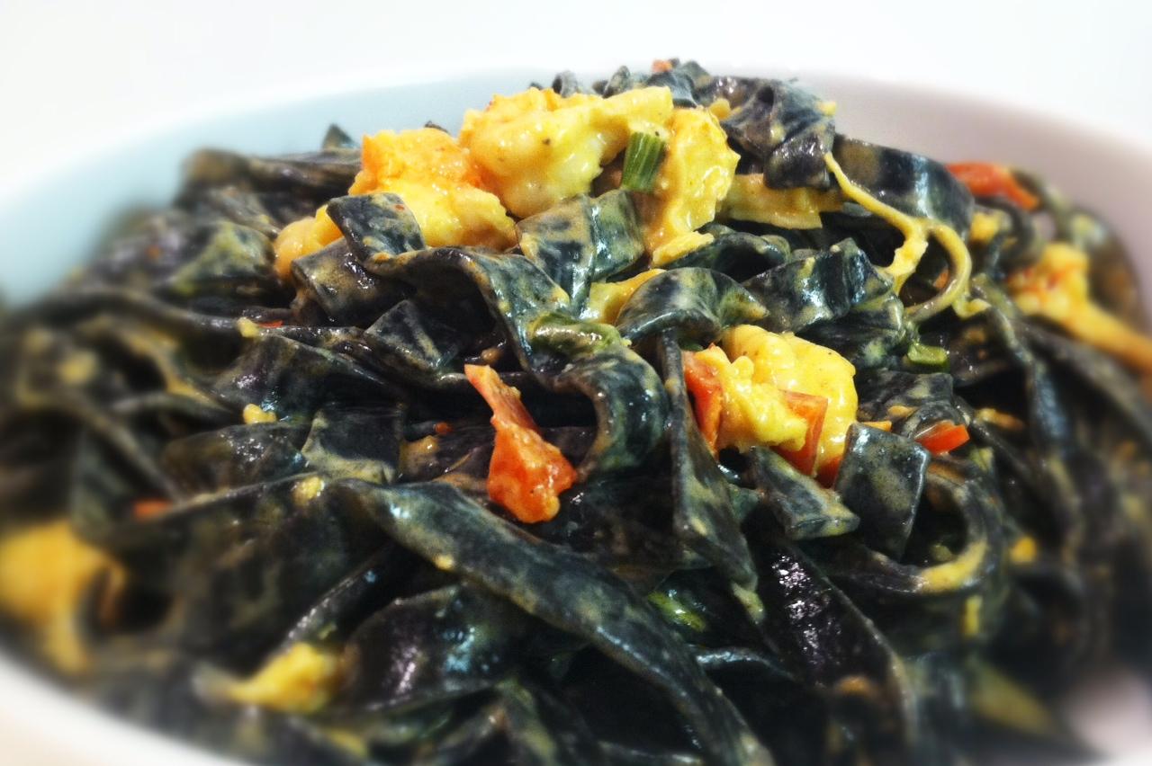 Creamy Crawfish and Squid Ink Pasta | savory