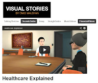 Screenshot image of Visual Stories' page hosting the video explaining Obamacare