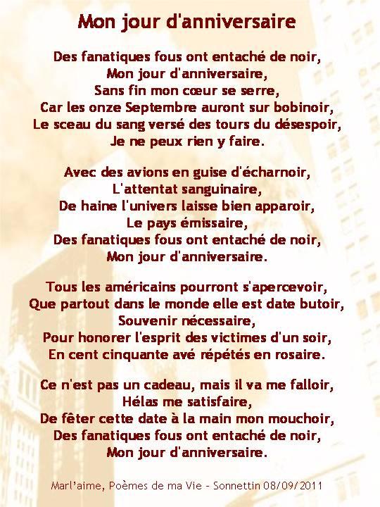 Poeme D Anniversaire