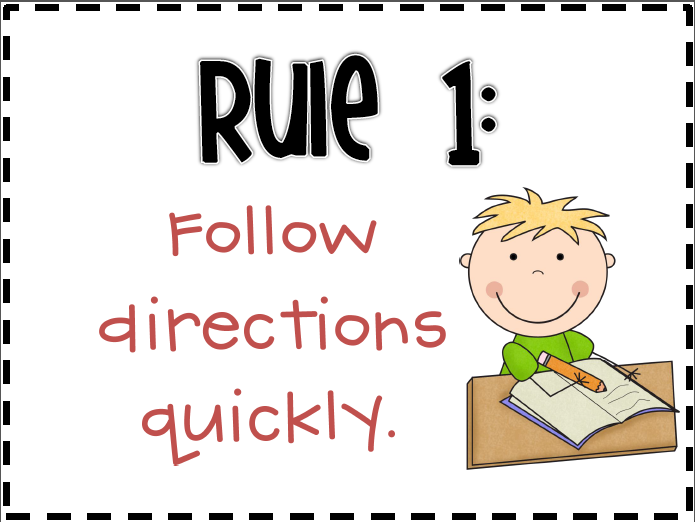 The following rule posters are available for free from teachers pay