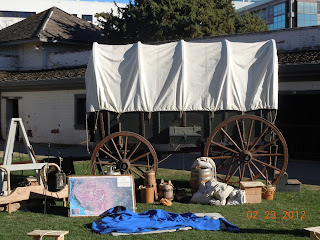 covered wagon at sutters fort california