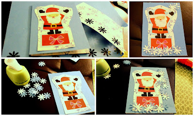 Make your DIY gift tag unique by layering other materials on it