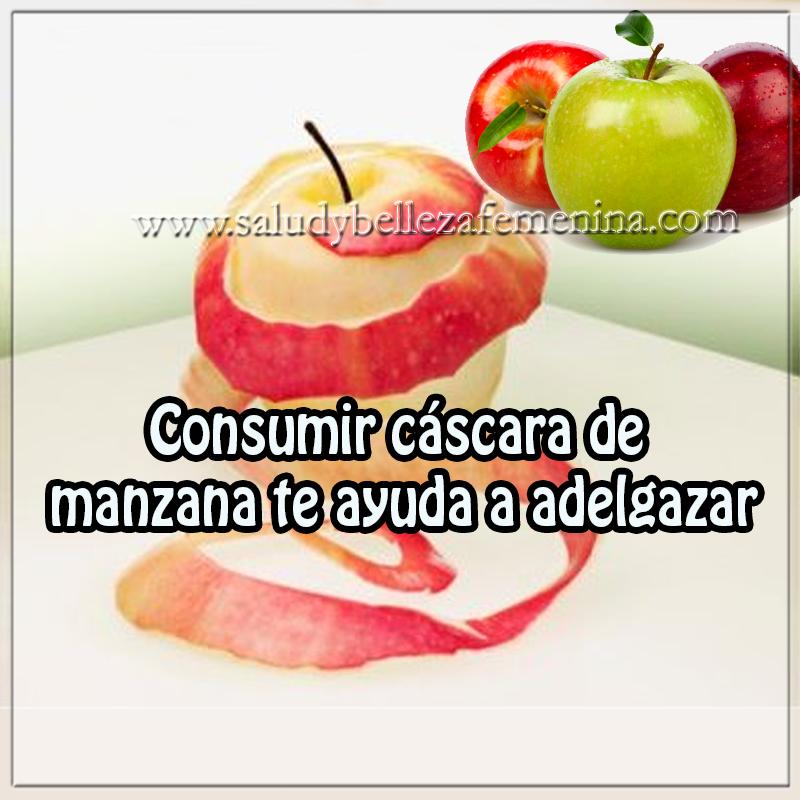 Dietas y nutrición,  remedios caseros para adelgazar, remedios bajar peso, cascara manzana para adelgazar