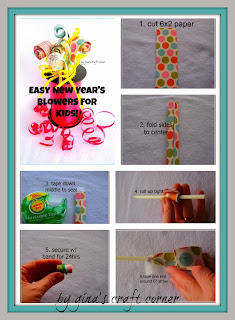 How to Make New Year's Blowers by Gina's Craft Corner
