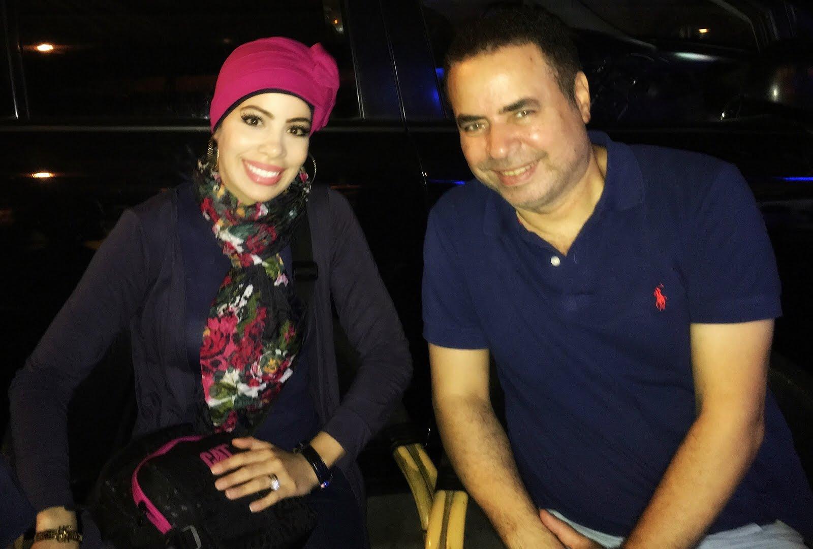 مع الفنان صُبحى خليل عام 2016