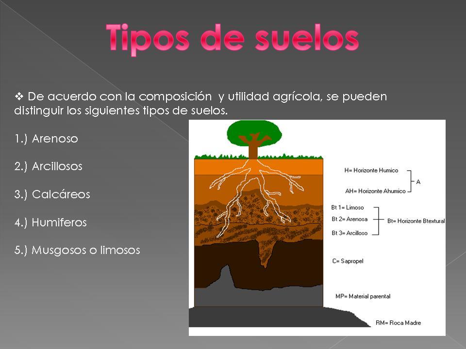 El suelo y sus tipos for Materiales que componen el suelo