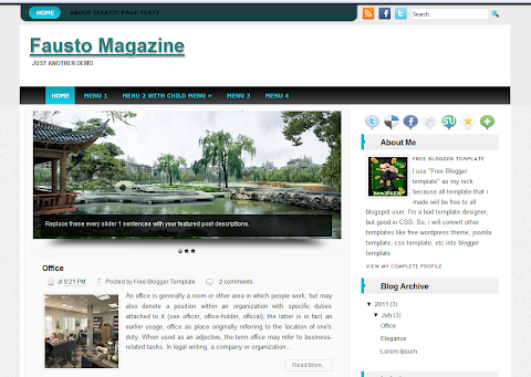 Fausto Blogger Theme