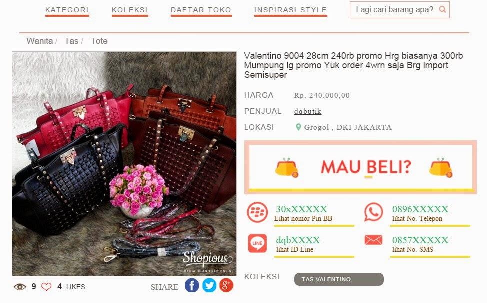 Koleksi Tas Valentino Terbaik di Shopious.com