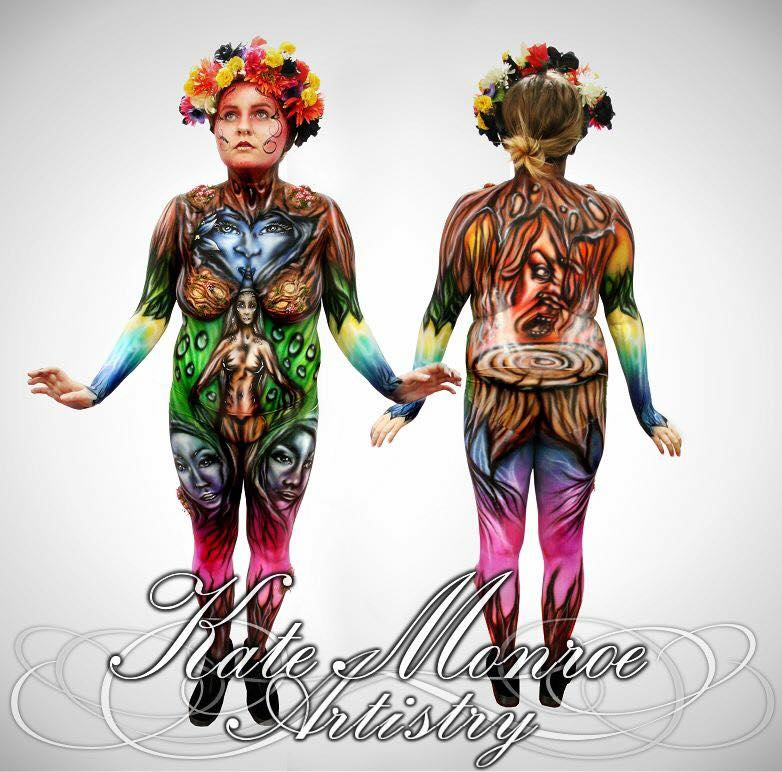 11-Model-Zoe Mitchell-Kate-Monroe-Face-and-Body-Painting-on-Human-Canvases-www-designstack-co