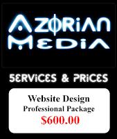 "AzM: Website Design- ""Professional Package"" $600.00"