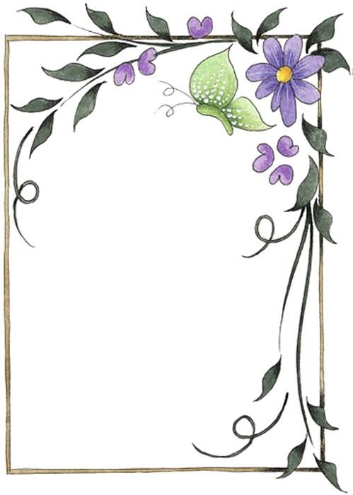 Dibujo de bordes de flores - Imagui