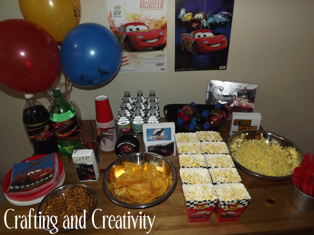 Crafting and Creativity: my son's 4th birthday party- Cars theme!