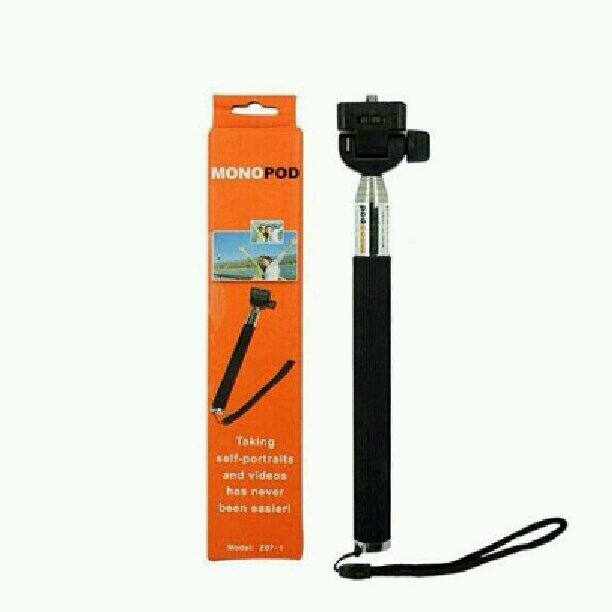 monopod selfie stick for camera smartphone black lazada malaysia. Black Bedroom Furniture Sets. Home Design Ideas