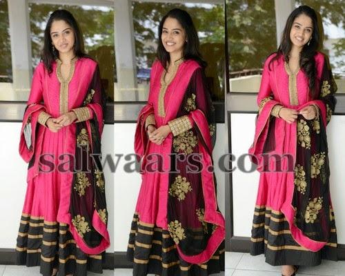 Nikitha Anil Pink Long Salwar