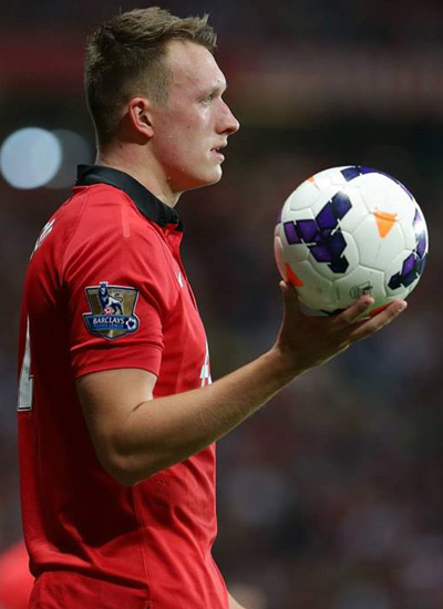 Phil Jones Manchester United v Chelsea 2013