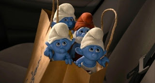 Grouchy Vanity Clumsy Smurfs 2 animatedfilmreviews.blogspot.com