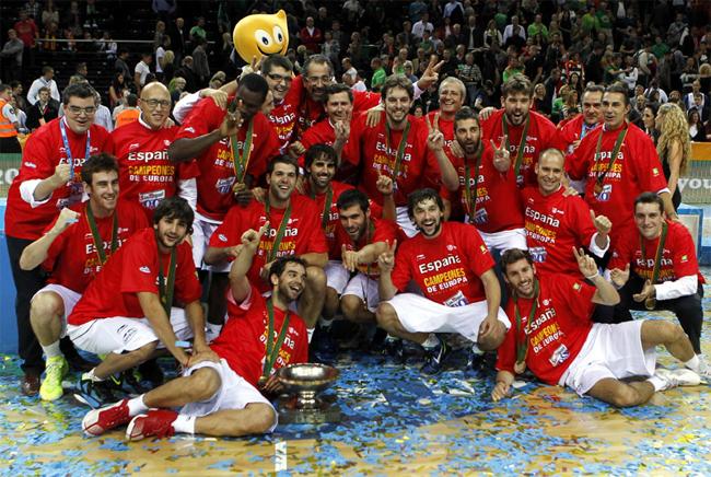 selección española de baloncesto campeona de Europa 2011