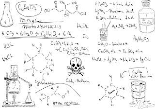 科学的な数式の背景 Scientific formulas backgrounds イラスト素材6