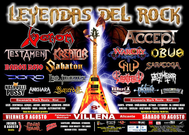 Leyendas del Rock Festival 2013. Cartel