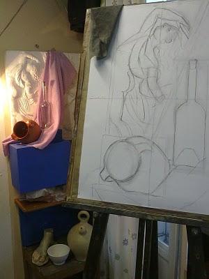 dibujo a carboncillo