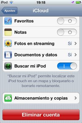 iCloud en iOS
