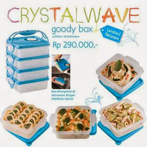 CRYSTAL WAVE GOODY BOX TUPPERWARE