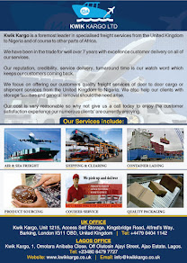 DO YOU WANT SPECIALIZED FREIGHT SERVICES FROM THE UNITED KINGDOM TO NIGERIA WITHN 4 WORKING DAYS, C