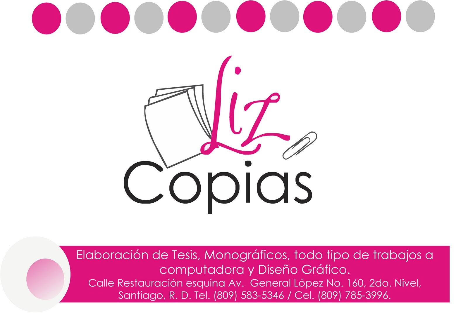Liz Copias, diseño gráfico y digitación