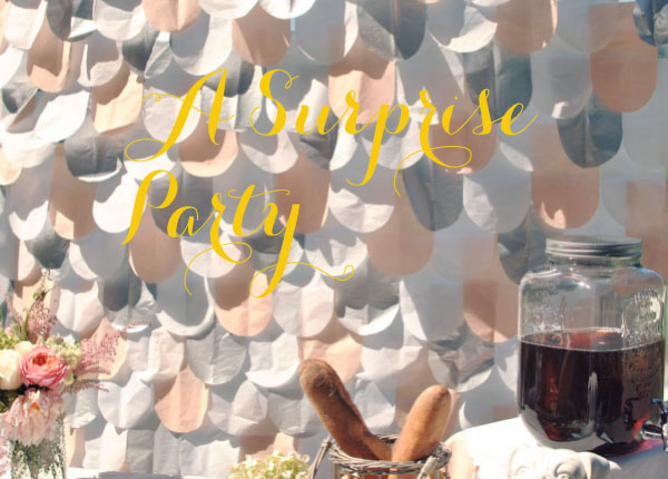 scalloped theme party