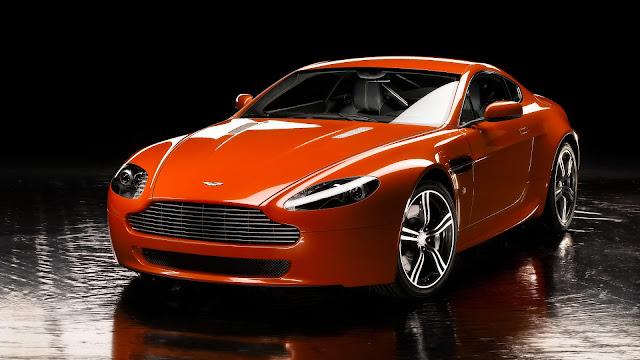 Aston Martin Vantage V8 Orange