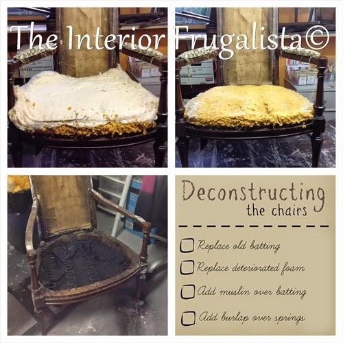 Vintage High Back Throne Arm Chair deconstructing