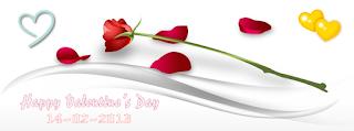Ảnh bìa cành hồng chào mừng ngày lễ tình nhân