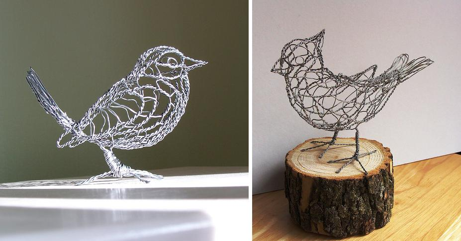 Minnesota Based Wire Sculptor Ruth Jensen Uses To Create These Cute Animal Sculptures By Simply Twisting The There Is No Soldering Or Gluing
