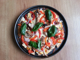 McCormick Grill Mates - Mediterranean Chicken pizza with basil